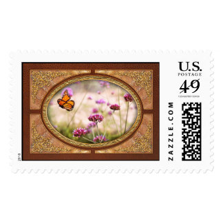 Butterfly - Monarach - The sweet life Postage Stamp