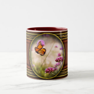 Butterfly - Monarach - The sweet life Two-Tone Coffee Mug