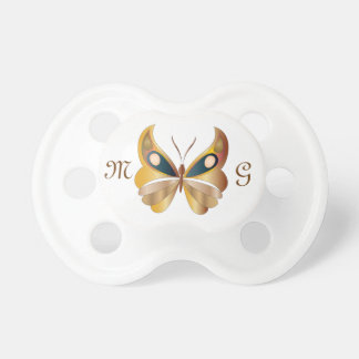 Butterfly & Monogram 1 - Pacifier