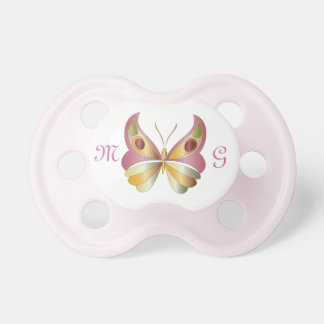 Butterfly & Monogram 2 - Pacifier