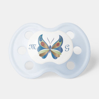 Butterfly & Monogram 3 - Pacifier