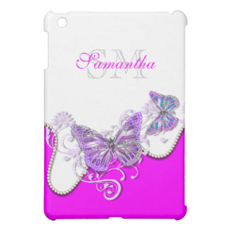 Butterfly monogram girls name cover for the iPad mini