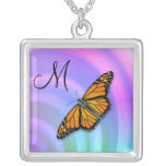 Butterfly Monogram M Necklace