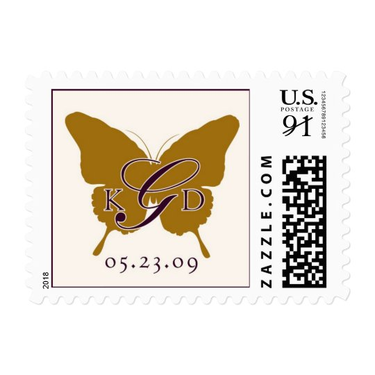 Butterfly Monogram stamp