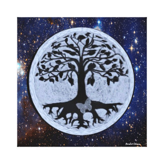 Butterfly Moon Stretched Canvas Prints