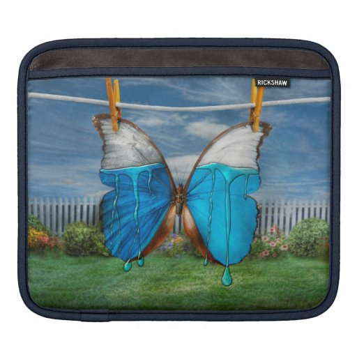 Butterfly - Morpho - I hate it when the colors run Sleeves For iPads