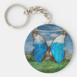 Butterfly - Morpho - I hate it when the colors run Key Chains