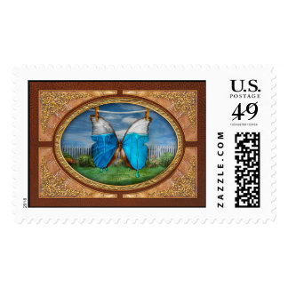 Butterfly - Morpho - I hate it when the colors run Postage