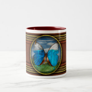 Butterfly - Morpho - I hate it when the colors run Two-Tone Coffee Mug