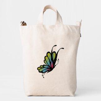 Butterfly Mosaic Duck Canvas Bag