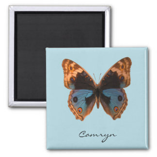 Butterfly Moth Insect Personalized Name 2 Inch Square Magnet