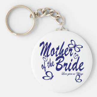Butterfly/Mother of the Bride Basic Round Button Keychain