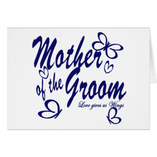 Butterfly/Mother of the Groom Greeting Card