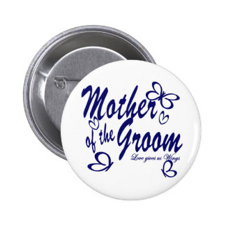 Butterfly/Mother of the Groom Pinback Button
