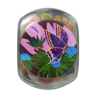 Butterfly Motif Candy Jar Glass Candy Jar