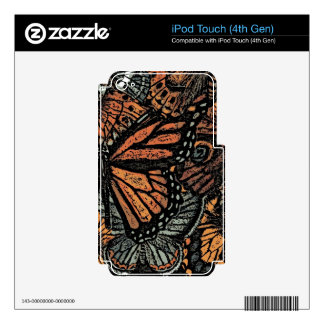 BUTTERFLY MOTIF iPod TOUCH 4G SKINS