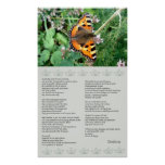Butterfly Motivational Desiderata Poster at Zazzle