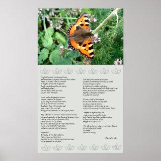 Butterfly Motivational Desiderata Poster