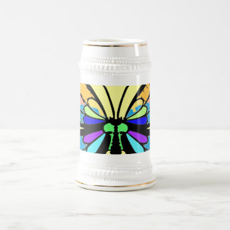 Butterfly 18 Oz Beer Stein