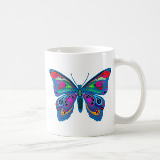 """Butterfly mug, """"Be the change..."""""""