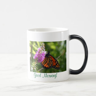 butterfly mug, Good Morning!