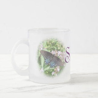 Butterfly Mug-personalize + choices Frosted Glass Coffee Mug