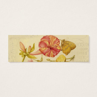 Butterfly, Mushroom and Flower Watercolor Mini Business Card