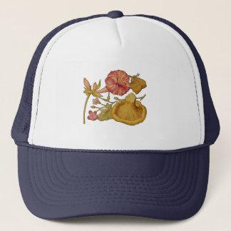Butterfly, Mushroom and Flower Watercolor Trucker Hat