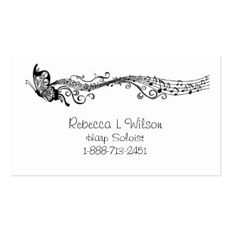 Butterfly Music Business Card Templates