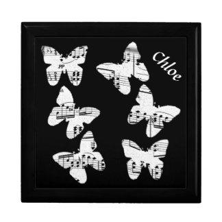Butterfly Music Design Gift Box