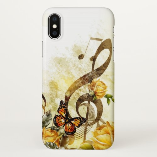 Butterfly Music Notes Zazzle iPhone X Case Phone Case