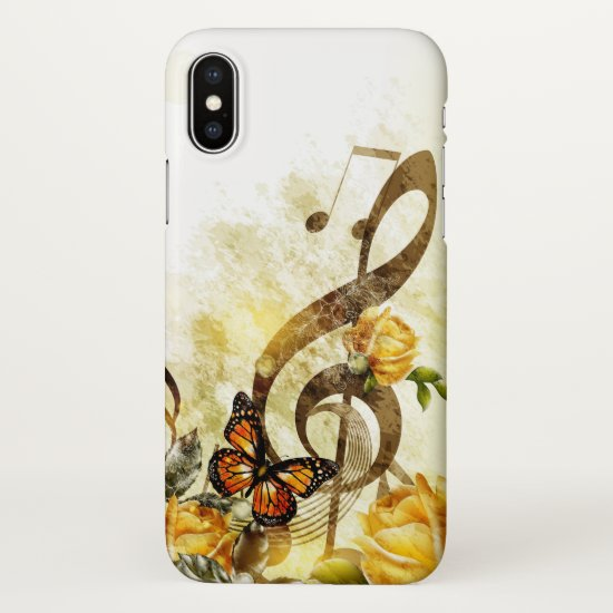 Butterfly Music Notes Zazzle iPhone X Case