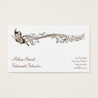 Butterfly Music Teacher Business Cards