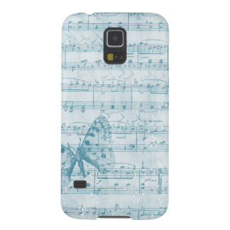Butterfly Musical Romance Blue Galaxy S5 Cover