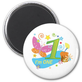 Butterfly: My first birthday Refrigerator Magnets