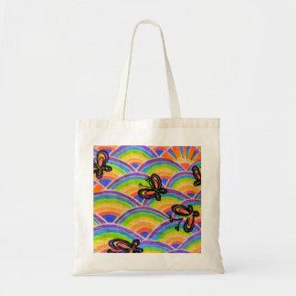 Butterfly n Rainbows Tote Bag