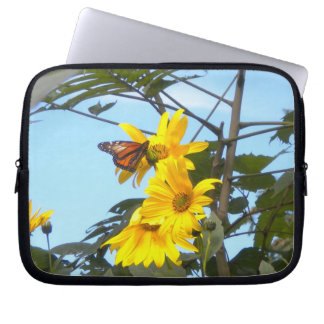 Butterfly n the Sunflowers Laptop Sleeve