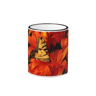 Butterfly n Tiger Lilies Coffee Mug