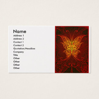 butterfly, Name, Address 1, Address 2, Contact ... Business Card