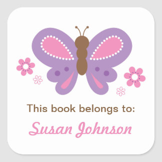 Butterfly Name Label Sticker for Kids