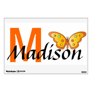 Butterfly Name Wall Art | Personalize Wall Sticker