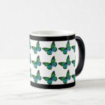 Butterfly Nature Pattern Magic Mug