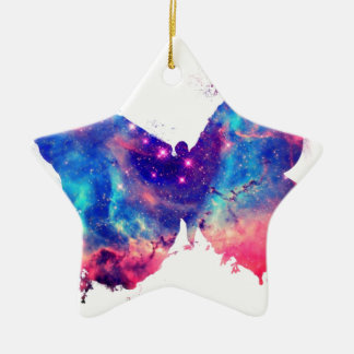 Butterfly Nebula Ceramic Ornament