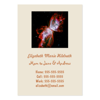 Butterfly Nebula in Scorpius Constellation Large Business Card