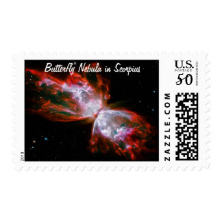 Butterfly Nebula in Scorpius Constellation Postage