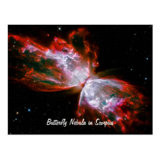 Butterfly Nebula in Scorpius Constellation Postcard
