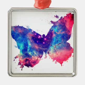 Butterfly Nebula Metal Ornament