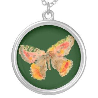 Butterfly Necklace - Orange necklace