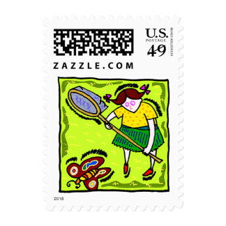 Butterfly Net Postage Stamps