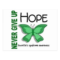 Butterfly Never Give Up Hope Tourette's Syndrome Postcard